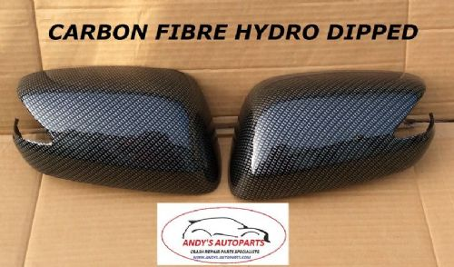 HONDA JAZZ 08 ONWARDS PAIR OF WING MIRROR COVERS IN CARBON FIBRE HYDRO DIPPED